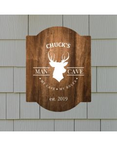 Personalized Buck Deer Hunting Man Cave Wall Sign