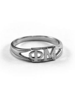 Sterling Silver Phi Mu Ring
