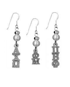Sorority Charm Pearl Earrings
