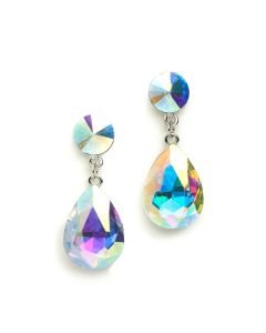 AB Crystal Teardrop Earrings
