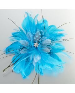 Feather Flower Hair Clip or Pin - 4 Colors