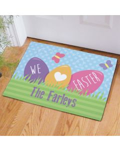 We Love Easter Personalized Welcome Doormat