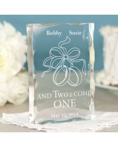 And Two Become One Personalized Wedding Keepsake Paperweight