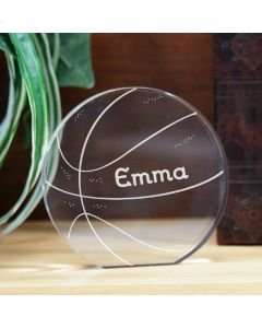 Personalized Basketball Award Keepsake Paperweight