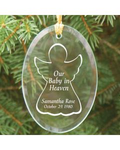 Our Baby In Heaven Personalized Christmas Tree Ornament