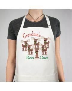 Reindeer Christmas Personalized Apron with Kids Names