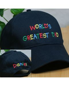 Personalized World's Greatest Dad Baseball Cap Hat