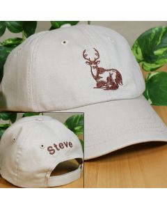 Personalized Deer Baseball Cap Hat