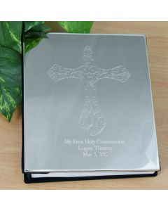 Engraved Christian Cross Photo Album