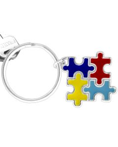 Autism Awareness Puzzle Piece Keychain