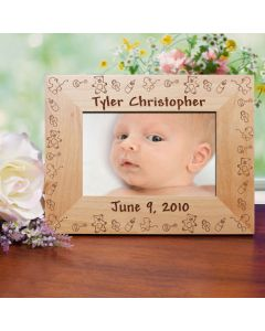 Baby Name and Birthdate Personalized Picture Frame