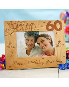 60th Birthday Personalized Picture Frame