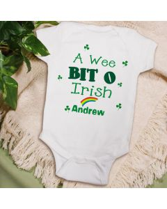 A Wee Bit O Irish Personalized Baby Onesie Bodysuit