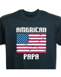 Personalized American Flag Black T-shirt