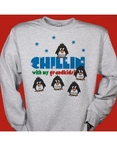 Chillin with My Kids Penguins Personalized Sweatshirt