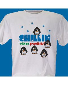 Chillin with My Kids Penguins Personalized T-Shirt
