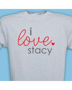 Personalized Name I Love T-shirt