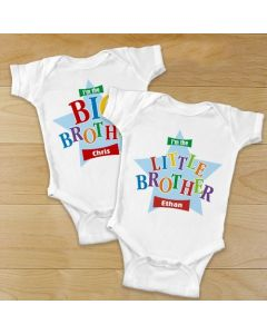 Big, Middle or Little Brother Personalized Baby Onesie or Shirt