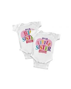 Big, Middle or Little Sister Personalized Baby Onesie or Shirt