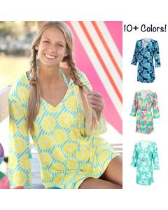 Womens Monogrammed Swimsuit Cover-ups