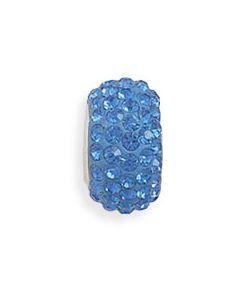 Blue Swarovski Crystal Euro Bead