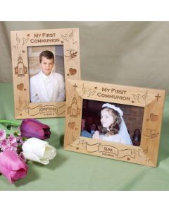 My First Communion Personalized Picture Frame