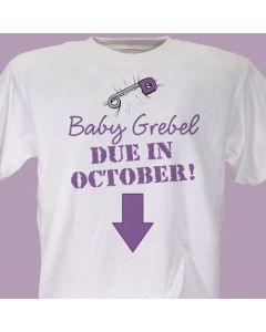 Baby Due Personalized Maternity T-Shirt