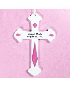 Personalized Baby Wall Cross in Pink or Blue