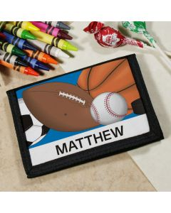 Personalized Boys Sports Wallet